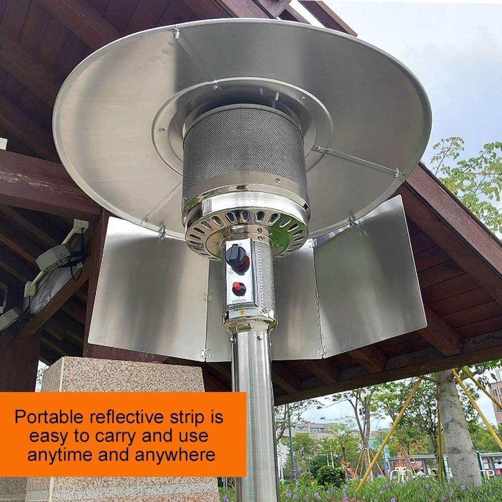 para calefacci/ón de gas natural y propano Reflector reflector para calentador de patio DONGKER plegable