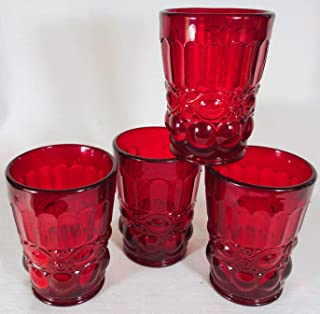 product image for Mosser Glass Eye Winker Tumblers Set of 4 in Red