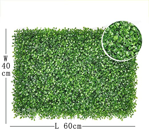 Muro De Pantalla De Jardín Artificial, Privacidad Seto De Césped Artificial, Césped Falso Usar como Muros Falsos De Vegetay Planta Topiary Adecuada Tanto para Interiores Decoración: Amazon.es: Hogar