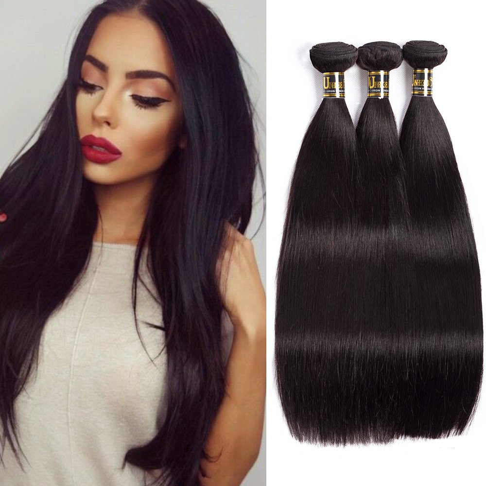 Best Hair Extensions Uneed Hair 8a Brazilian Straight Hair Weave