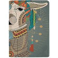 Colorful Headwear - Funda de Piel para Pasaporte, diseño de Llama, con Accesorios, Collar y Pendientes, diseño de Animal…