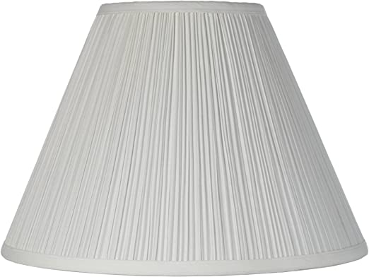 Vintage Empire Lamp Shade With Harp Pleated Cone White Fabric 6 5x15x11 Spider Brentwood Lampshades Amazon Com