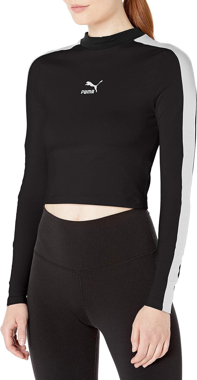 PUMA Women's Classics Long Sleeve Cropped Top
