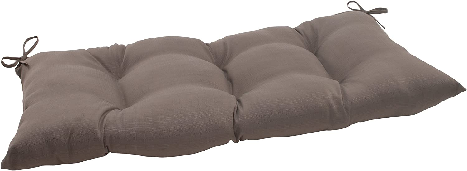 Pillow Perfect Indoor/Outdoor Forsyth Taupe Swing/Bench Cushion