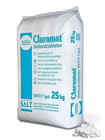 Claramat Siedesalz Tabletten 25kg / Siedesalztabletten / Regeneriersalz / Enthärtersalz