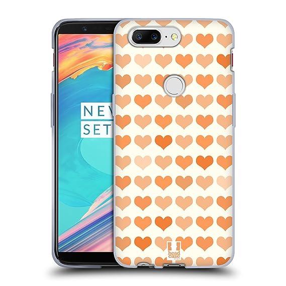 new concept 3452f 11433 Amazon.com: Head Case Designs Tangerine Fancy Hearts Soft Gel Case ...