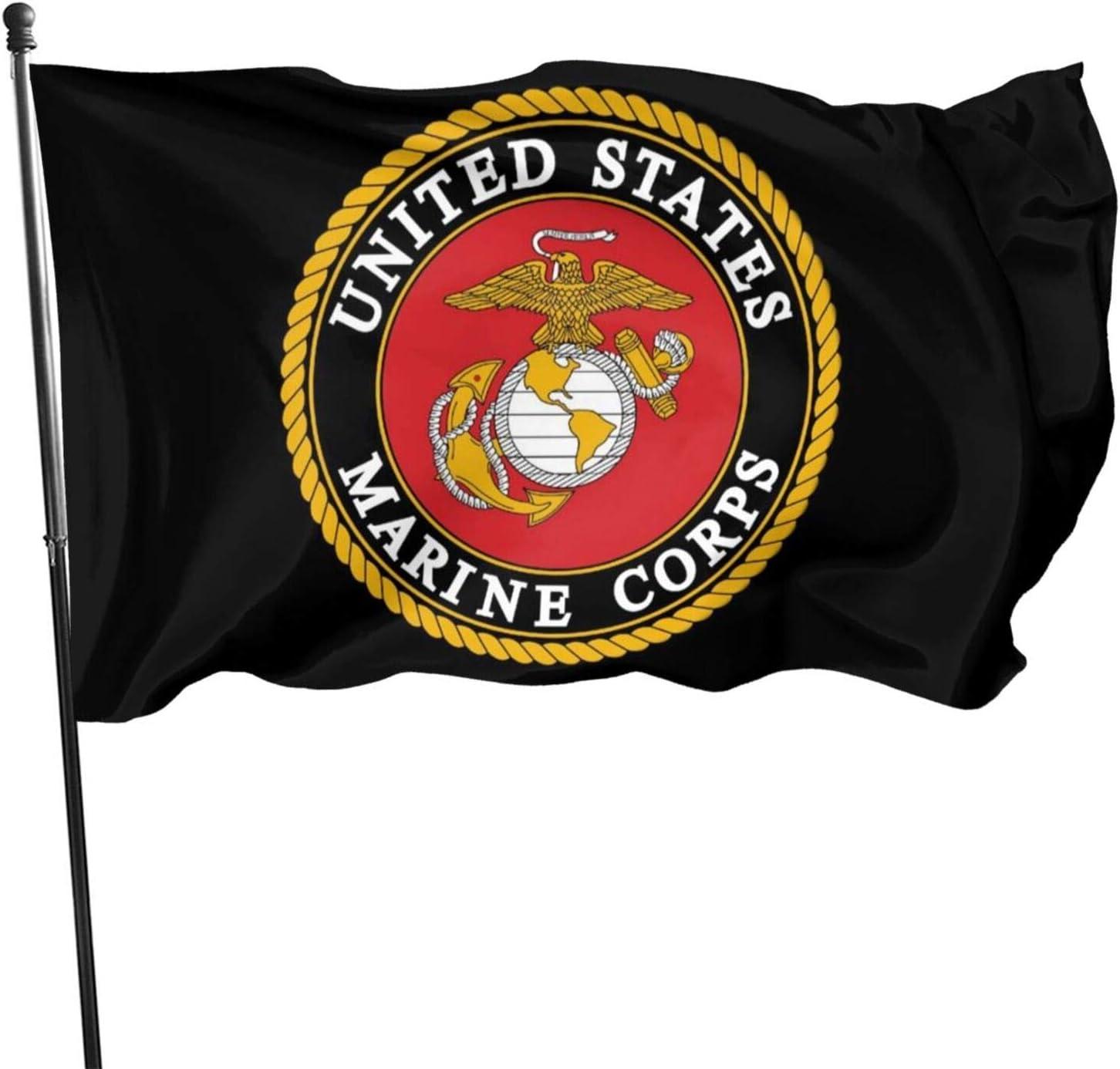 QYMENGYI USMC Durable Outdoor Flags Breeze Flag Indoors Outdoors Decor