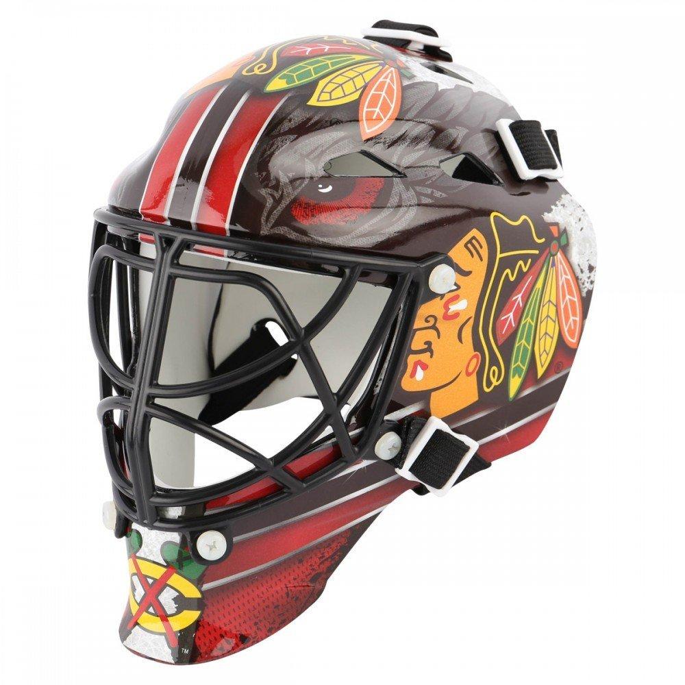 New Chicago Blackhawks Franklin Sports Mini Hockey Goalie Mask - NHL Riddell