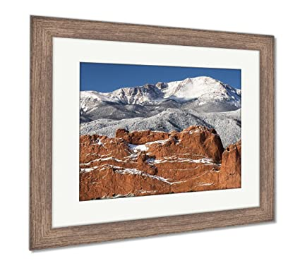 Amazon Com Ashley Framed Prints A Winter View Of Pikes Peak