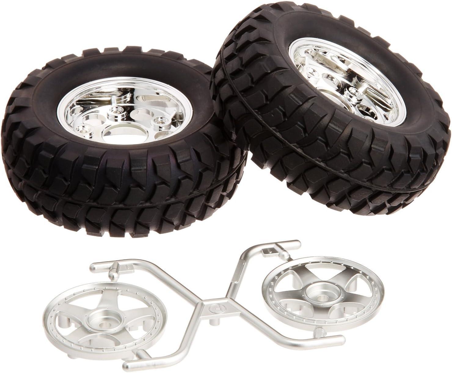 TAMIYA 54554 Rock Block Tires w//2pc 5-Spoke Wheels CC01