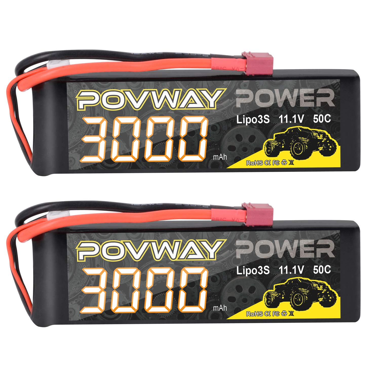 Baterias Lipo (2) 7.4v 3000mah Rc Povway