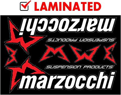 Marzocchi Suspension Bike Upper Fork Decal Sticker Graphic Set Adhesive White