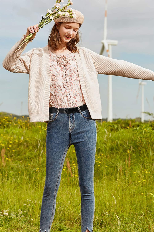JasGood Ceinture large en cuir de vachette avec boucle en alliage pour jeans taille 56//69 cm
