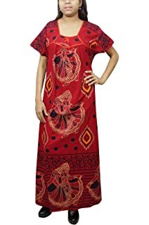 ... Sleep Wear Black Grey. 480.00 · Indiatrendzs Women Cotton Stylish  Nighty Long Printed Nightgown Maroon b9508acc3