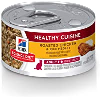 Hill's Science Diet Adult Wet Cat Food, Healthy Cuisine Roasted Chicken & Rice Medley, 79g, 24 Pack, Canned Cat Food