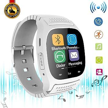 Reloj inteligente Bluetooth para mujer, reloj inteligente con pantalla de luz LED, reloj de