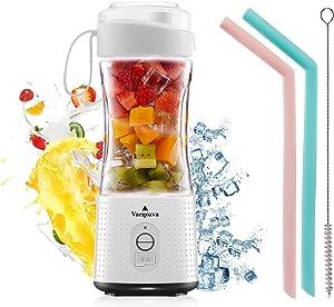 Vaeqozva Portable Blender USB Rechargeable Personal Mixer Fruit Mini Blender for Smoothie, Fruit Juice, Protein Shake, Milk Shakes