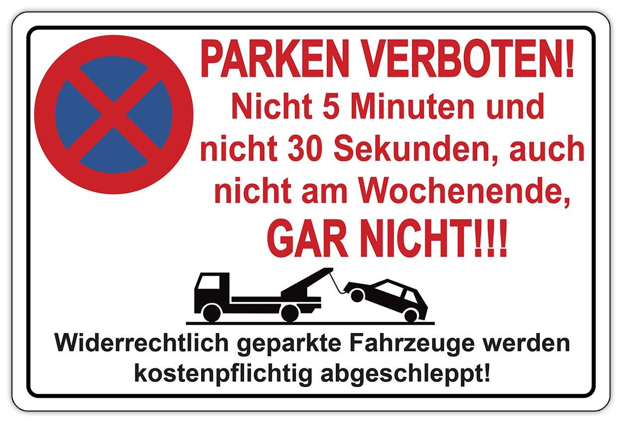 Cartel prohibido aparcar No 5 min. No 30 Segundos. No ...