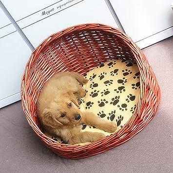 Gato De Mimbre De Mimbre Camada Gatos Cachorros De Camada Cuatro Temporadas General 20kg Gatos Gatos Y Perros Disponibles (Color : C, Tamaño : Metro): ...