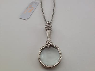 Amazon 1928 jewelry silver magnifying glass necklace pendant 1928 jewelry silver magnifying glass necklace aloadofball Image collections