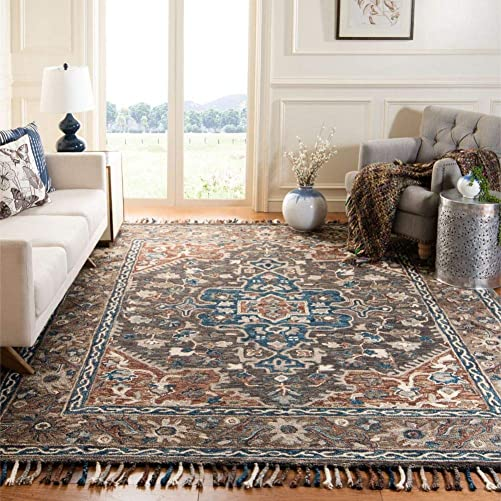 Safavieh Aspen Collection APN112A Handmade Boho Braided Tassel Wool Area Rug