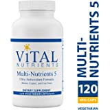 Vital Nutrients - Multi-Nutrients 5 - Ultra Antioxidant Formula (Boron, Copper, Iron Free) - Ultra Antioxidant Multi-Vitamin/Mineral Formula - 120 Capsules