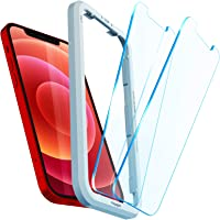 Spigen AlignMaster Tempered Glass Screen Protector for iPhone 12 and for iPhone 12 Pro - 2 Pack