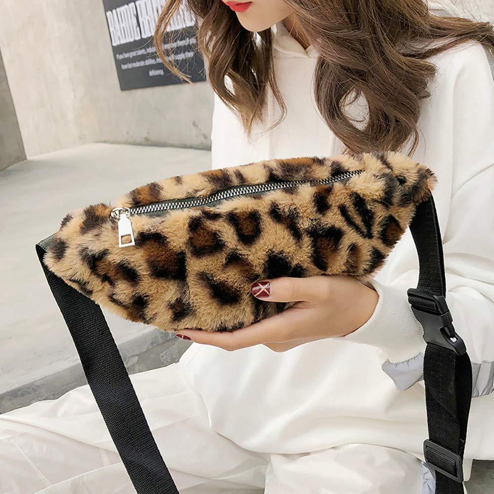Bolsillo con Estampado de Leopardo Ri/ñoneras Mujer Running Bolso de Hombro Bolsas de Mensajero peque/ño Monedero para ni/ñas Se/ñoras Gusspower