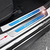 Outside Plate Vesul 4PCs Stainless Steel Door Sill Scuff Plate Guard Door Entry Pad for Kia Sportage 2017 2018 2019