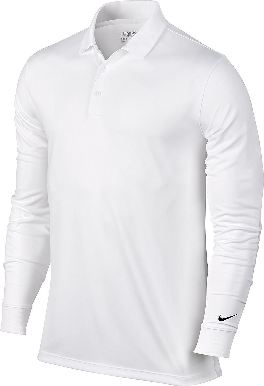 Nike Victory L/S Camiseta Polo de Manga Larga de Golf, Hombre ...
