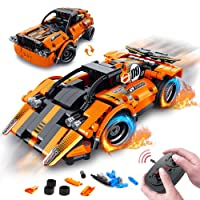 VATOS STEM Building Toys | 335PCS 2-in-1 Technic RC Racing Cars | Building Bricks Stem Toys 6 Year Old Boy & Construction Vehicle Engineering Kits Best Gifts for Boys Girls Aged 7 8 9 10 11 12+