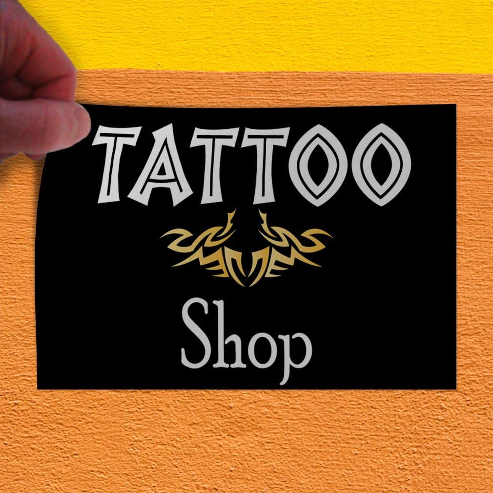 52inx34in Decal Sticker Multiple Sizes Tattoo Business Style A Business Tattoo Outdoor Store Sign Blue Set of 2