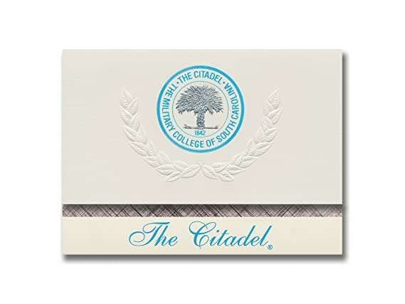 Amazon Signature Announcements The Citadel Graduation Platinum Style Elite Pack 20 With Seal Foil Office Products