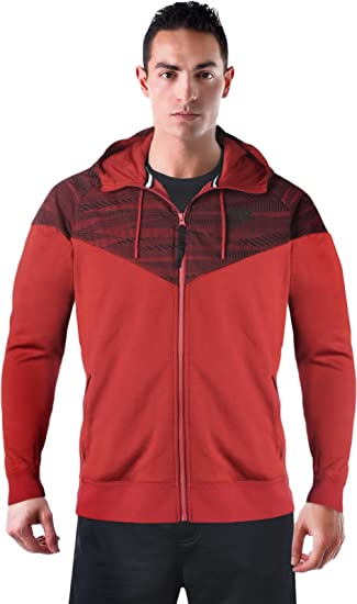 Amazon.com  Nike Air Hybrid Windrunner Men s Zip Up Hooded Jacket Red Size  XXL  Sports   Outdoors 64f2d8595
