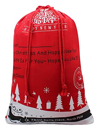49a6b3d03f2 Christmas Santa Sack Reindeer Delivery Present Bags from North Pole Bags  for Kids Large Christmas Decoration