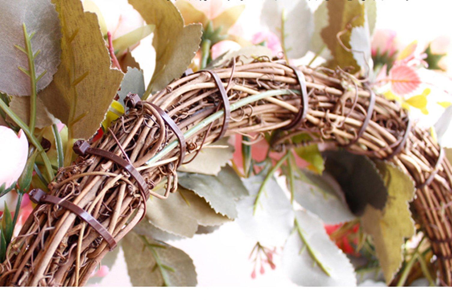 Yokoke-Peony-Wreath-Rose-Floral-Twig-Wreath-16-Inch-Handmade-Vintage-Artificial-Flowers-Garland-Front-Door-Wreath-Beautiful-Silk-For-Spring-And-Summer-Wreath-Display