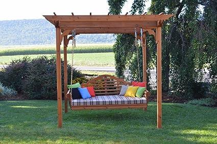 8' x 10' Amish-Made Cedar Pergola with 75&quot - Amazon.com: A&L Furniture Co. 8' X 10' Amish-Made Cedar Pergola With