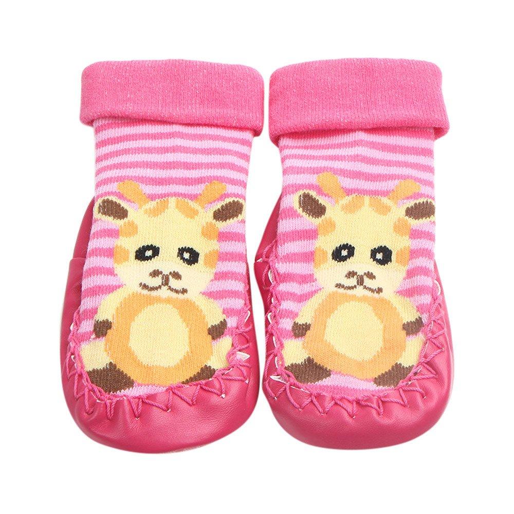 Inkach Clearance Baby Anti-Slip Slipper Floor Socks Soft Bottom Booties Shoes Non-Slip Socks (1~12 Month/One Size, Red)