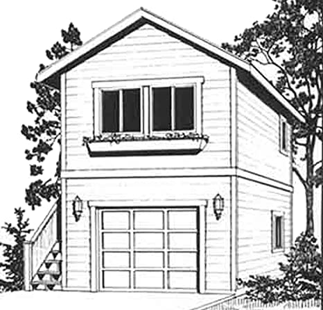 Garage Plans: One Car, Two Story Garage with Apartment ...