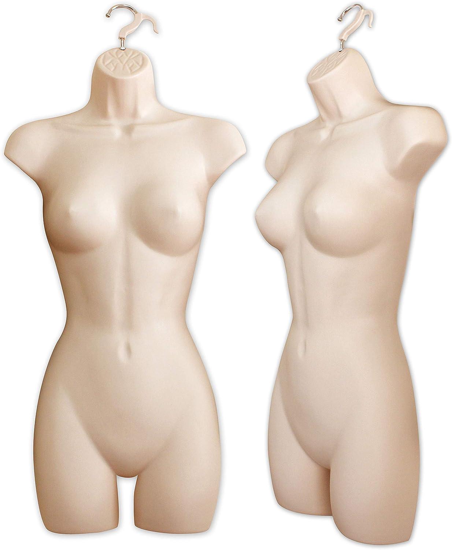 Full Male Hanging Plastic Body Form Mannequin Dummy Flesh