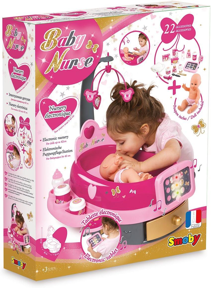 Smoby nursery elettronica con bambola multicolore 220317