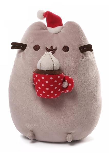 Gund 11 cm gris claro Pusheen Navidad snackable Cat Animal de peluche suave peluche de juguete