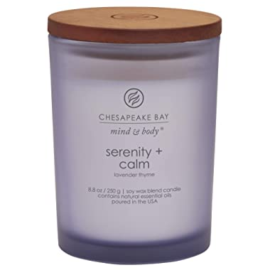 Chesapeake Bay Candle Scented Candle, Serenity + Calm (Lavender Thyme), Medium