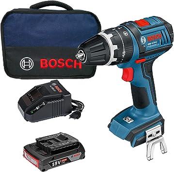 Bosch GSB 18V-LI Professional - Taladro atornillador de impacto (batería de 2,0 Ah, cargador en bolsa blanda): Amazon.es: Bricolaje y herramientas