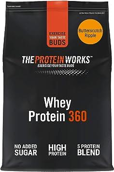Whey Protein 360 |Combinación TRI-Proteica, Batido Alto En Proteínas Para Construir Músculo| THE PROTEIN WORKS, Caramelo Cremoso, 2.4kg