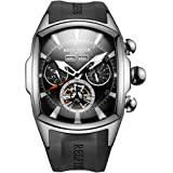 Reef Tiger Luminous Huge Big Sport Watch for Men Tourbillon Analog Automatic Watches Rubber Strap RGA3069