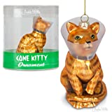 "Accoutrements Cone Kitty 4"" Glass Holiday Christmas Ornament"