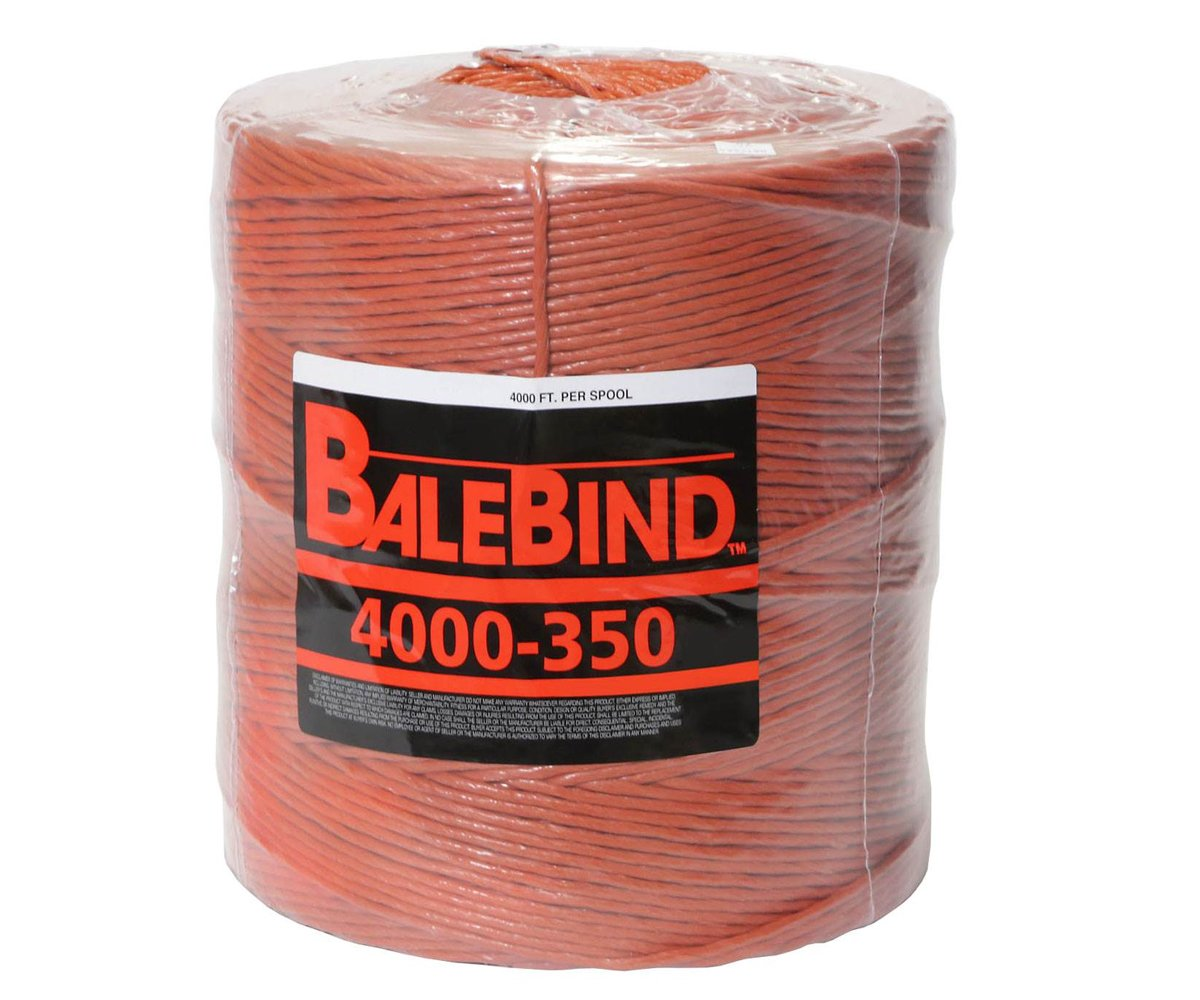 BaleBind Baler Twine - Weather Resistant Strong Thick Tie - 4,000 Feet Long Orange