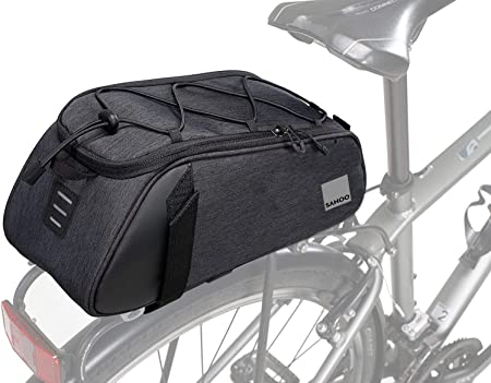 Roswheel Essentials Series 141465 Convertible Bike Trunk Bag Bicycle Rear Rack Pack Cycling Accessories Pannier 7l Capacity Sports Outdoors Amazon Com
