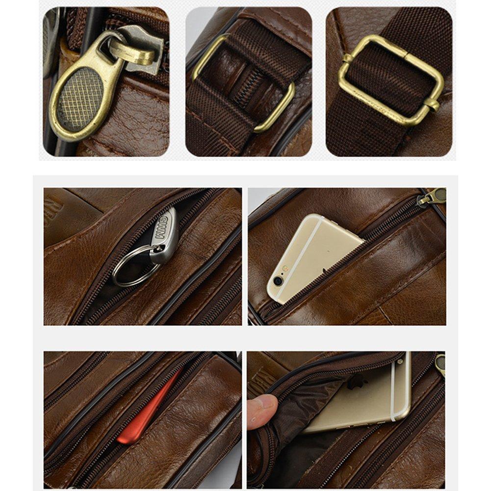Sacoche pour homme en cuir v/éritbale taille unique Brown-039